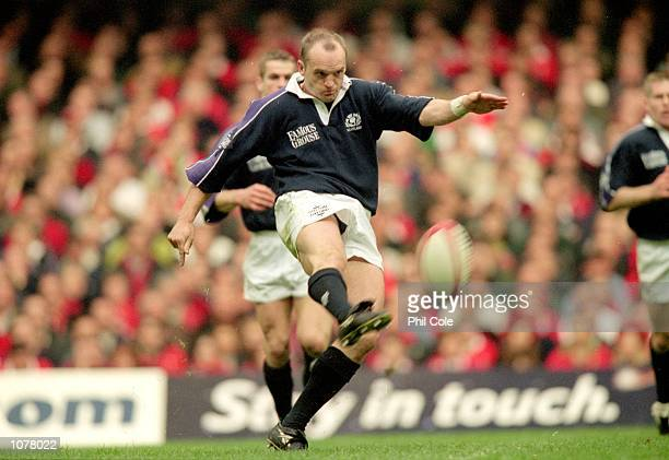 Gregor Townsend of Scotland in action during the Six Nations Championships match against Wales at the Millennium Stadium in Cardiff Wales Wales won...
