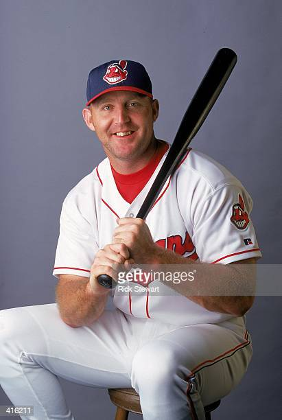 Infielder Jim Thome of the Cleveland Indians poses for a studio portrait during Spring Training Photo Day in Winter Haven Florida Mandatory Credit...