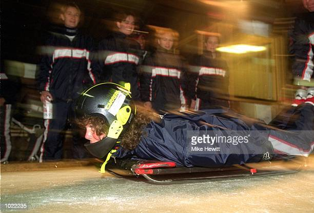 Minister for Sport Kate Hoey MP in action during her visit to the British Airways Olympic Futures Camp in Saalfelden, Austria \ Mandatory Credit:...