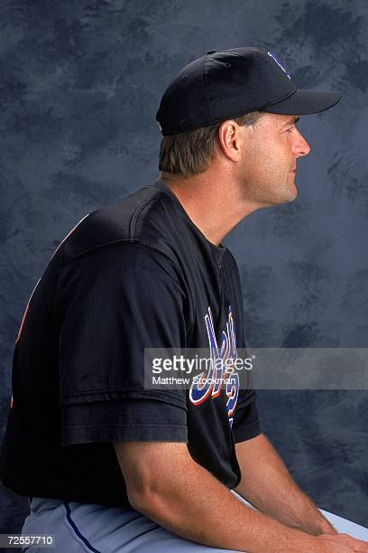 Pitcher Al Leiter of the New York Mets poses for a studio portrait during Spring Training Photo Day in Port St Lucie Florida