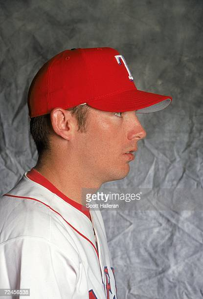 Pitcher Brian Sikorski of theTexas Rangers poses for a studio portrait during Spring Training Photo Day in Port Charlotte Florida Mandatory Credit...