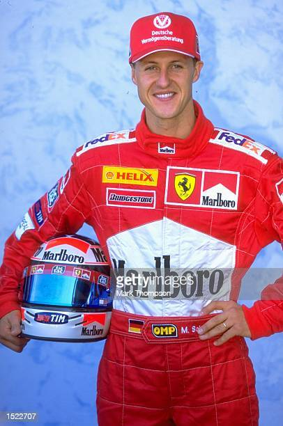 Portrait of Michael Schumacher of Germany and Ferrari during a photocall at the Australian Formula One Grand Prix at Albert Park in Melbourne...