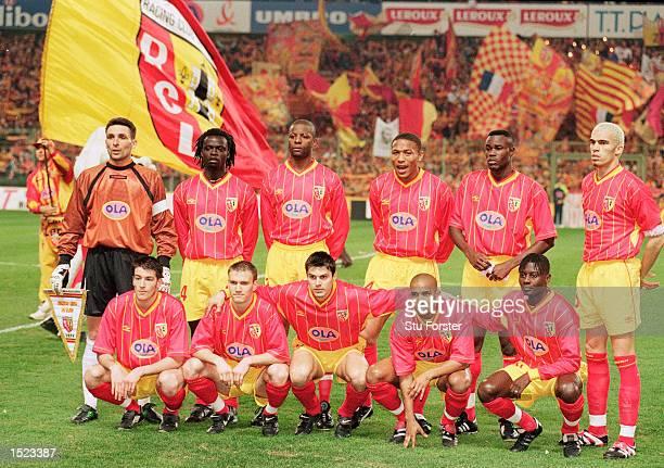 Racing Club de Lens pose for a team photograph before the UEFA Cup quarterfinal second leg against Celta Vigo at the FelixBollaert Stadium in Lens...