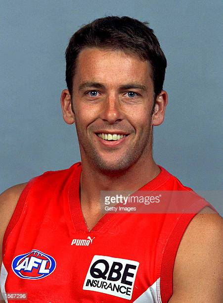Andrew Dunkley of the Sydney Swans poses for a portrait headshot during a photo call in Sydney, Australia. Mandatory Credit: Allsport...