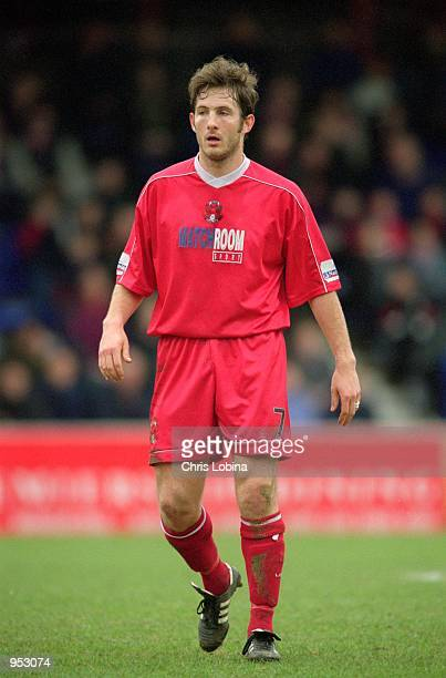 Andy Harris of Leyton Orient in action during the Nationwide League Division Three match against York City played at Brisbane Road in London The...