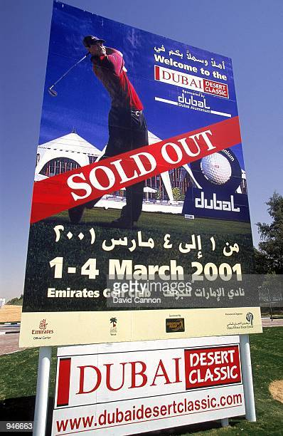 Another Tiger Woods sell out for the Dubai Desert Classic at the Emirates GC in Dubai Mandatory Credit David Cannon /Allsport