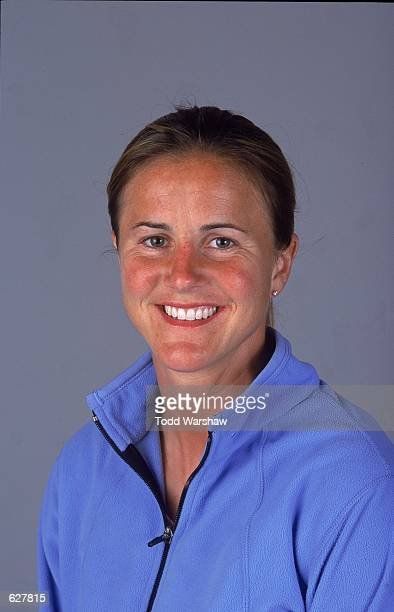 Brandi Chastain of the Bay Area CyberRays poses for a studio portrait during the WUSA Spring Training at the Arco Olympic Training Center in Chula...