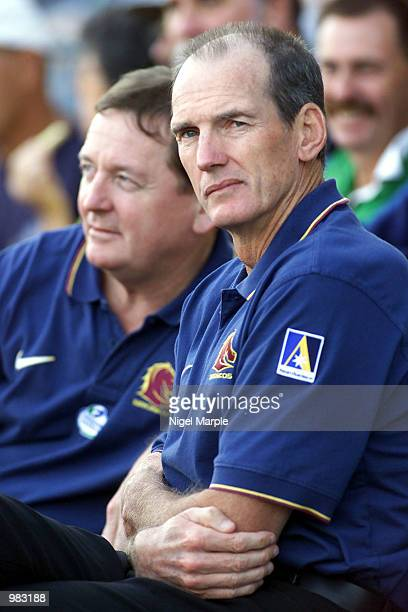 Brisbane Broncos coach Wayne Bennett at the round 6 NRL Rugby League match between the Auckland Warriors and the Brisbane Broncos at Ericsson Stadium...