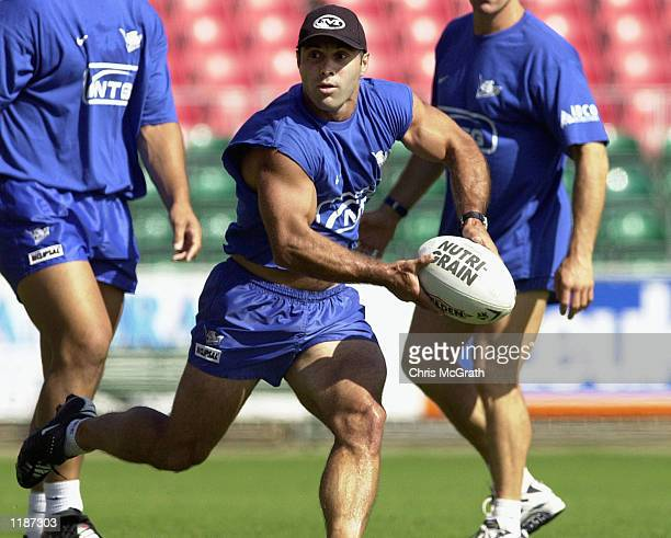 Craig PollaMounter of the Bulldogs in action during Bulldogs training held at the Sydney Showgrounds Sydney Australia DIGITAL IMAGE Mandatory Credit...