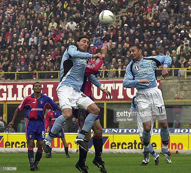 Dino Baggio and Miajlovic Sinisa of Lazio in Action during a Serie A 22th Round League match between Bologna and Lazio, played at the Renato...