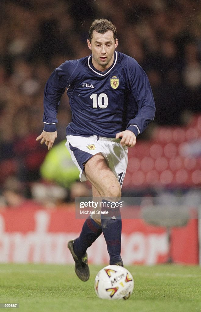 Don Hutchison of Scotland runs with the ball during the World Cup 2002 Group Six Qualifying match against San Marino played at Hampden Park, in Glasgow, Scotland. Scotland won the match 4-0. \ Mandatory Credit: Michael Steele /Allsport