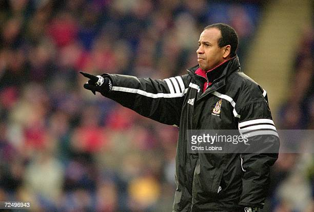 Fulham manager Jean Tigana during the Nationwide Division One match against Crystal Palace played at Selhurst Park in London Fulham won the game 20...