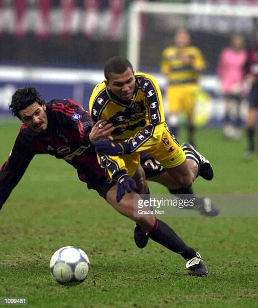 General action from the Serie A 21st Round League match between AC Milan and Parma played at the Giuseppe Meazza San Siro Stadium Milan Enrico LODI /...