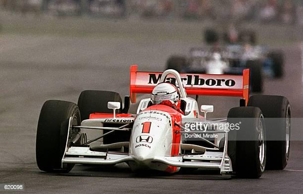 Gil de Ferran in the Marlboro Team Penske Honda Reynard during the Tecate Telmex Monterrey Grand Prix, round one of the CART FedEx Championship...
