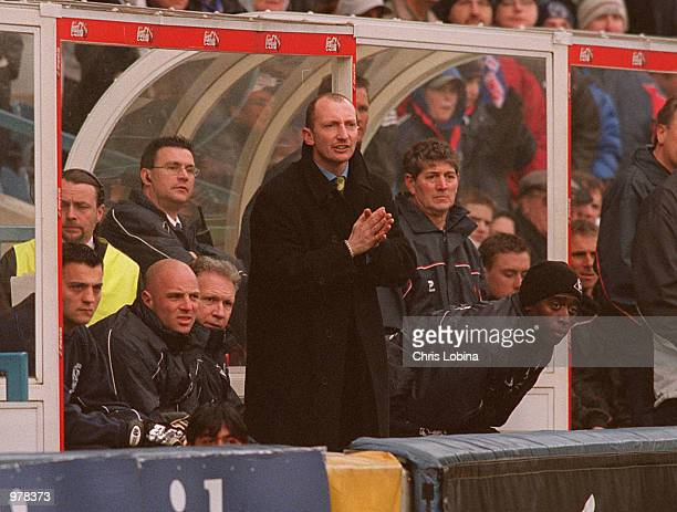 Ian Holloway the Queens Park Rangers manager looks on during the Nationwide First Division match between Queens Park Rangers and Sheffield United...