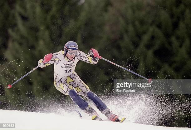John Moulder Brown of Great Britain in action in the British Land National Ski Championships in SaalbachHinterglemm Austria Mandatory Credit Ben...