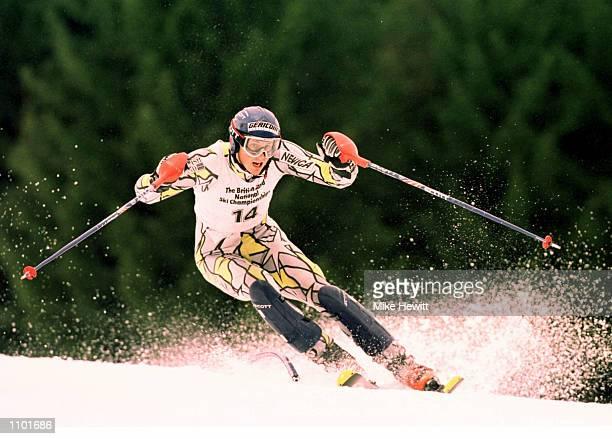 John MoulderBrown in action in the mens slalom at the British Land National Ski Championships in SaalbachHinterglemm Austria Mandatory Credit Mike...