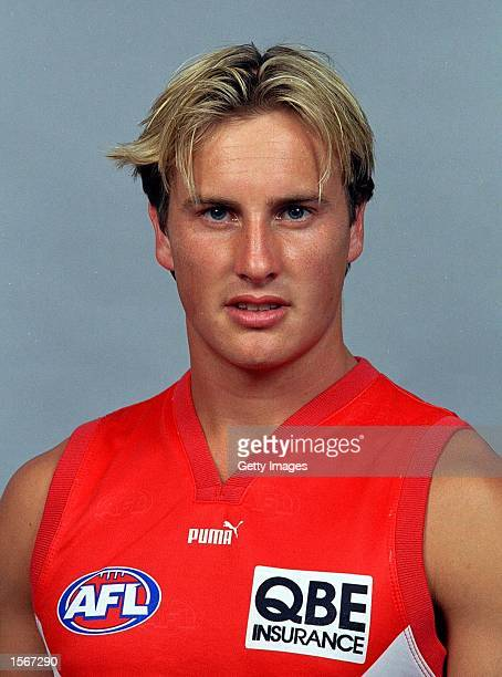 Jude Bolton of the Sydney Swans poses for a portrait headshot during a photo call in Sydney, Australia. Mandatory Credit: Allsport Australia/ALLSPORT