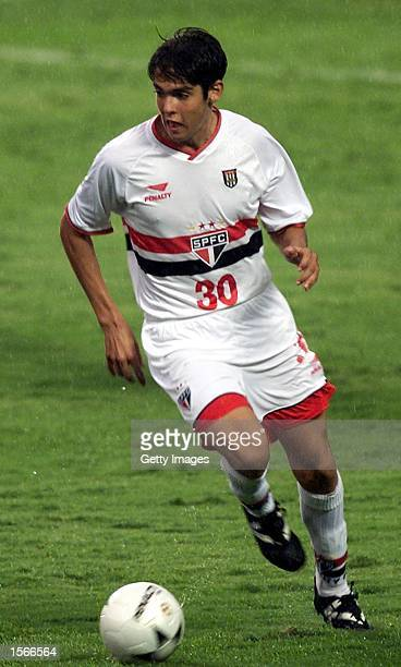 Kaka of Sao Paulo in action during the Sao Paulo and Guarani Paulista championship match played at Cicero Pompeo de Toledo stadium Sao Paulo Brazil...