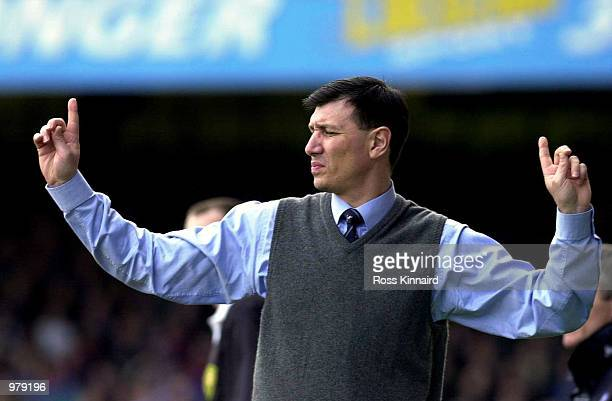 Lawrie Sanchez the Wycombe Manager during the match between Leicester City and Wycombe Wanderers in the AXA FA Cup Sixth Round at Filbert Street...