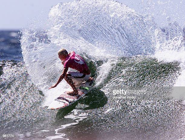 Mick Fanning of Australia carving up a wave during the final of the WQS Quiksilver Pro surfing competition held at Snapper Rocks Beach Gold Coast...