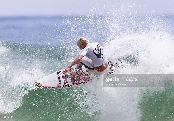Mick Fanning of Australia in action during the final rounds of the WQS Quiksilver Pro surfing competition held at Snapper Rocks Beach Gold Coast...