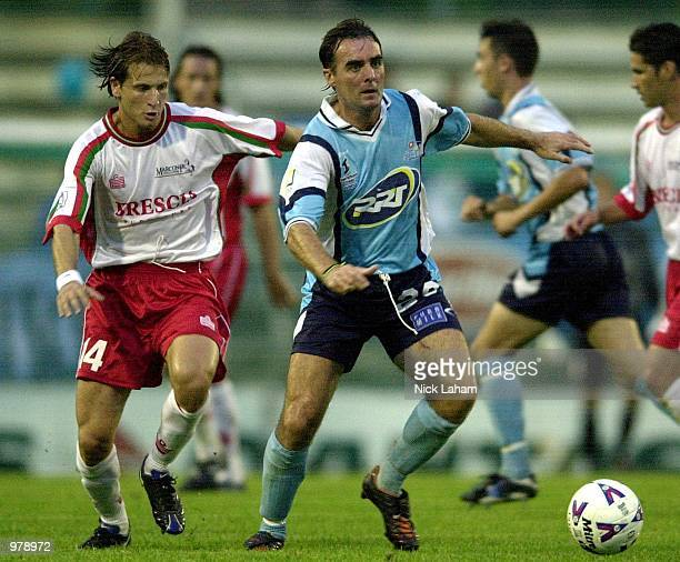 Mike Conroy of the Eastern Pride in action during the NSL Match between the Marconi Stallions and the Eastern Pride at Marconi Stadium Sydney...