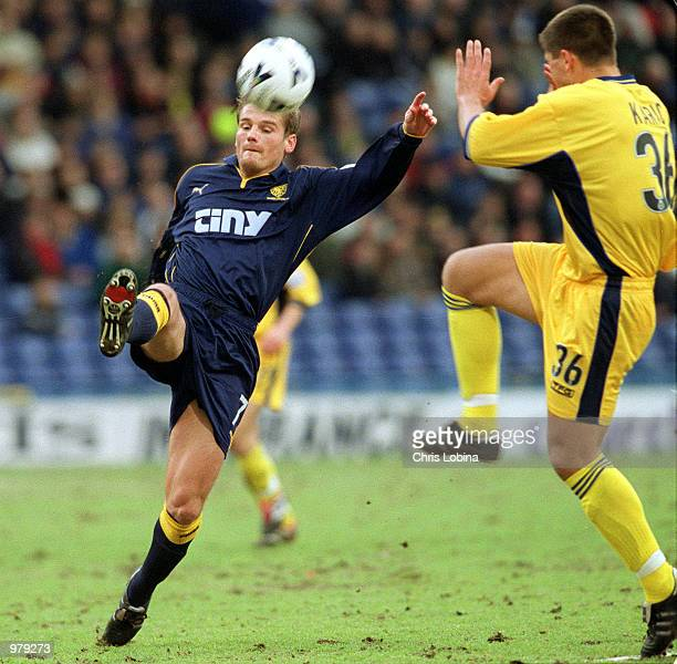 Neal Ardley of Wimbledon and Amir Karic of Crystal Palace in action during the match between Wimbledon v Crystal Palace in the Nationwide League...