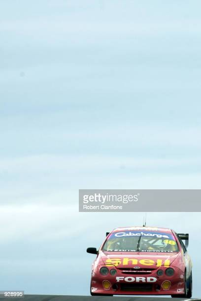 Paul Radisich of the Shell Helix Racing team in action during the practice session this morning in preperation for Round One of the Shell...