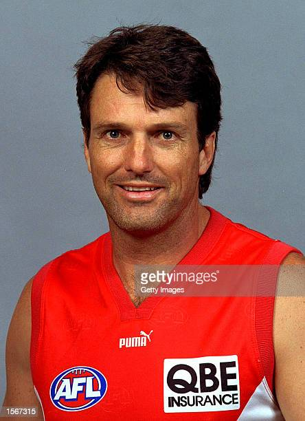 Paul Roos Assistant Coach of the Sydney Swans poses for a portrait headshot during a photo call in Sydney, Australia. Mandatory Credit: Allsport...