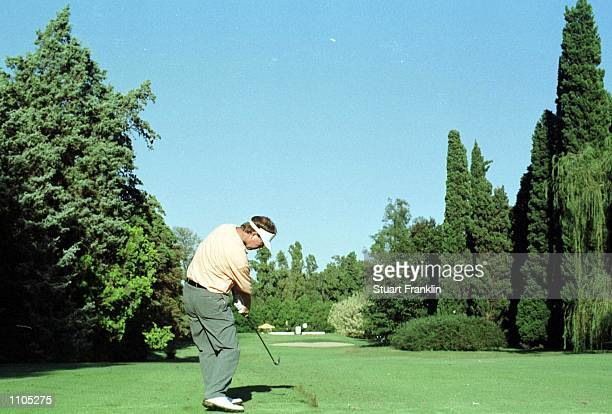 Phillip Walton of Ireland in action during the third round of the Argentina Open Golf Championships at the Jockey Club in Buenos Aires. Mandatory...