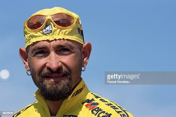 Portrait of Marco Pantani of Italy at the Tour Of Catalonia, Spain. \ Mandatory Credit: Pascal Rondeau /Allsport