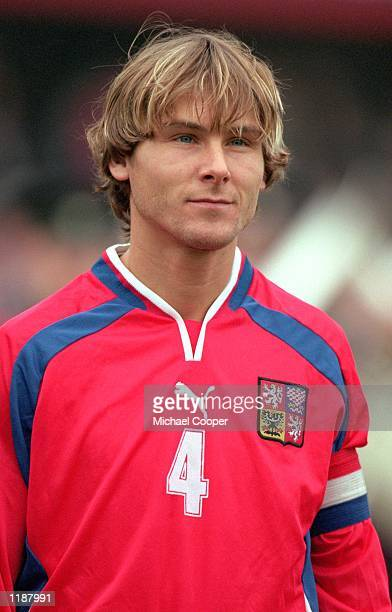 Portrait of Pavel Nedved of Czech Republic before the World Cup 2002 Group Three Qualifying match against Northern Ireland played at Windsor Park in...