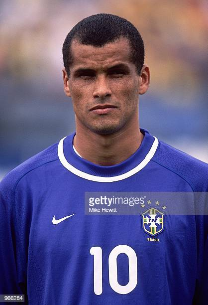 Portrait of Rivaldo of Brazil prior to the FIFA 2002 World Cup Qualifier against Ecuador played at the Estadio Olimpico in Quito Ecuador Ecuador won...
