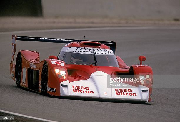 Toyota driver Allan McNish drives the 1999 Toyota GT1 during the Toyota Formula One Team Launch at the Paul Ricard Circuit in France Mandatory Credit...