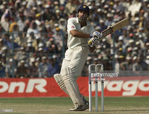 VVS Laxman of India hooks during day three of the 2nd Test between India and Australia played at Eden Gardens Calcutta India X DIGITAL IMAGE...