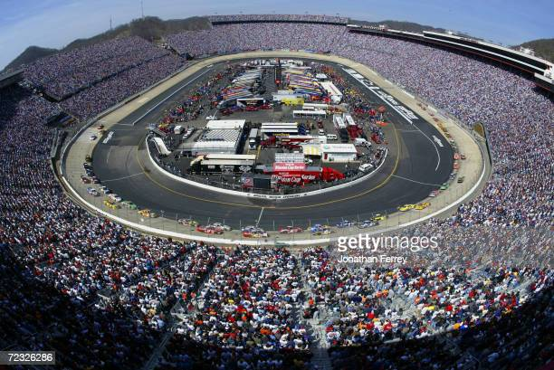 A birdseye generic view of the start of the NASCAR Winston Cup Food City 500 at the Bristol Motor Speedway in Bristol Tennessee DIGITAL IMAGE...