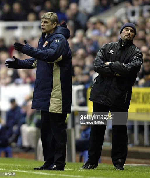 Arsene Wenger of Arsenal during the Newcastle United v Arsenal AXA FA Cup Quarter final match at St James's Park Newcastle DIGITAL IMAGE Mandatory...
