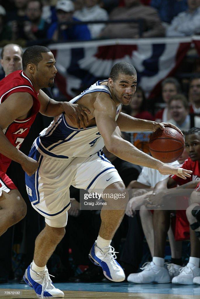Carlos Boozer 4 Of Duke Dribbles Against The Defense Jordan Collins 32