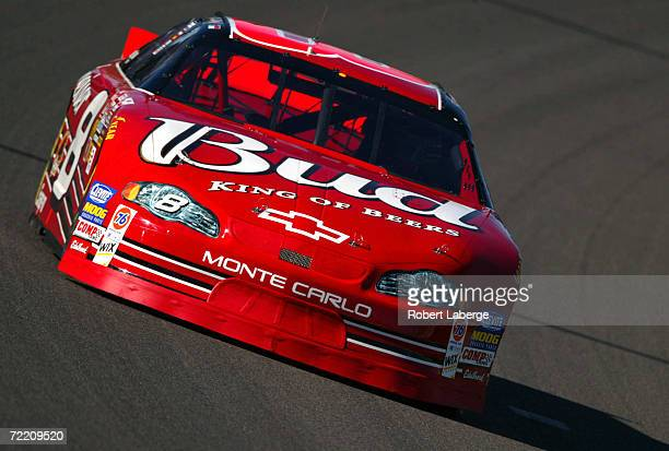 Dale Earnhardt Jr driving the Budweiser Chevrolet during practice for the NASCAR Winston Cup UAWDaimler Chrysler 400 at the Las Vegas Motor Speedway...