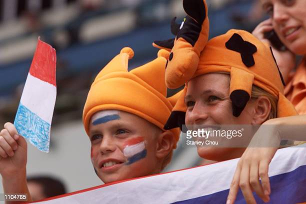 Dutch fans at the World Cup Hockey 3rd placing playoff match between Netherlands and Korea held at the Bukit Jalil National Stadium Kuala Lumpur...