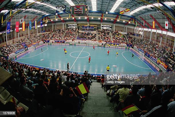 General view of the action during the International Futsal Tournament held at the Torrejon de Ardoz in Madrid Spain Picture taken by Javier Soriano...