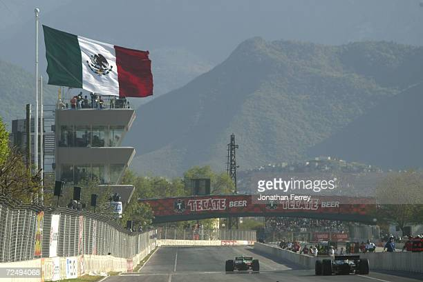 Generic view down the front straightaway during the Tecate Telmex Grand Prix of Monterrey round 1 of the CART FedEx Championship Series at Fundidora...