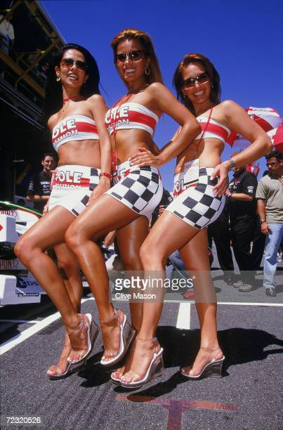 Glamour girls at the Brazilian Formula One Grand Prix at Interlagos in Sao Paulo Brazil Mandatory Credit Clive Mason/Getty Images