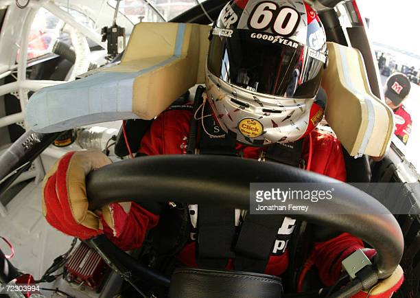 Greg Biffle prepares to practice for the BUSCH Sams Town 300 race at the NASCAR Winston Cup UAWDaimler Chrysler 400 at the Las Vegas Motor Speedway...