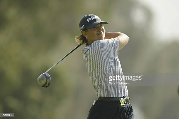 Heather Bowie hits a shot during the opening round of the Kraft Nabisco Championship at Mission Hills CC in Rancho Mirage California DIGITAL IMAGE...
