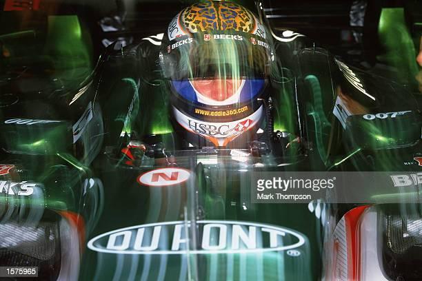 Jaguar driver Eddie Irvine before the Formula One Malaysian Grand Prix at the Sepang Circuit in Kuala Lumpur, Malaysia. \ Mandatory Credit: Mark...