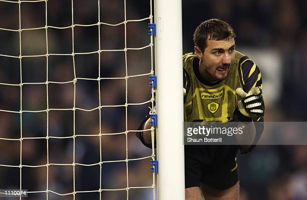 Jerzy Dudek of Liverpool in action during the UEFA Champions League Second Stage Group B match between Barcelona and Liverpool played at the Nou Camp...