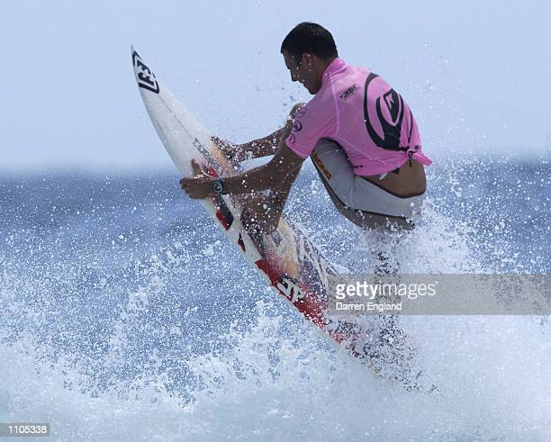 Joel Parkinson of Australia in action during the final of the Quicksilver Pro at Snapper Rocks on the Gold Coast Australia The Quicksilver Pro is...