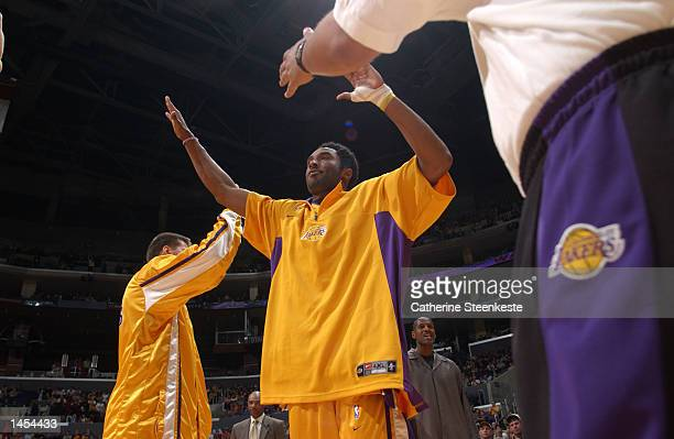 Kobe Bryant of the Los Angeles lakers ready for the game against the New York Knicks at Staples Center in Los Angeles California DIGITAL IMAGE NOTE...